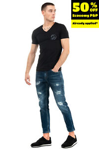 EMPORIO ARMANI SWIMWEAR T-Shirt Top Size 46 / S Coated Surfer Short Sleeve