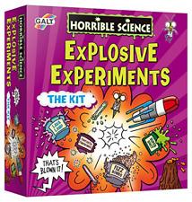 Horrible Science Explosive Experiments Kit Kids Education Rocket Volcano Lava