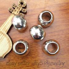 10pcs 9mm Fashion Jewelry Scarf Rings Charm Tibet Silver Pendants Accessory 7560