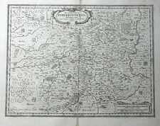 NORDRHEIN-WESTFALEN PADERBORN JANSSONIUS KUPFERSTICHKARTE VIELE WAPPEN 1658