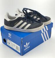 Boys Adidas Gazelle Sz 11.5 K Toddler Shoes Sneakers Blue White Classic Trefoil