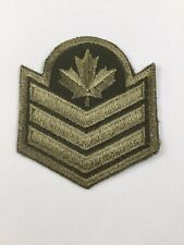 Canada Military Patch Army Combat Sergeant Canadian Insignia Iron-on/Sew