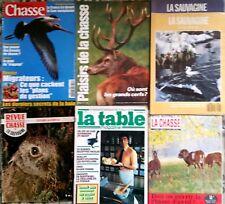 9)Lot 7 revues; Sauvagine, plaisirs de la chasse, revue national, la table n°2