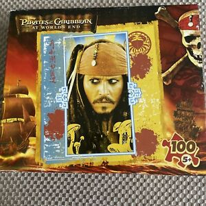 Pirates of the Caribbean At World's End Captain Jack Sparrow 100 Pc Puzzle