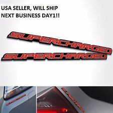 1X SUPERCHARGED BUMPER/TRUNK/FENDER/HOOD 3D LOGO JDM EMBLEM DECAL BADGE STICKER
