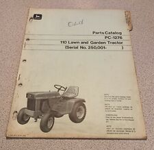 John Deere 110 Lawn Tractor Parts Catalog Manual Original