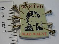 Disney Pin 2014 Flynn Rider Tangled Rapunzel Wanted Dead or Alive Poster Arrows