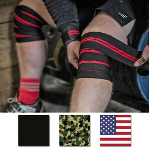 """Harbinger 78"""" Red Line Weight Lifting Knee Wraps"""