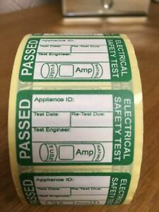 100 PAT Test Labels Stickers Portable Appliance  Paper style  FREE UK p&p