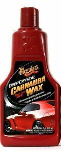 Meguiar's Deep Crystal Carnauba Wax Long Lasting Clear Coat Safe 16 Oz