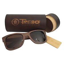 Walnut Wood Polarized Wayfarer Sunglasses