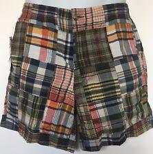 "Polo Ralph Lauren Men's Shorts~Madras~Patchwork~Classic Fit~6"" Inseam~Size M~NWT"