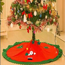DELUXE CHRISTMAS TREE SKIRT FLOOR MAT XMAS HOME FESTIVE DECORATIONS DECOR PARTY