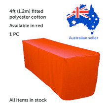 1.2m 4FT Fitted Red Trestle Table Cover  Functions Weddings Parties Markets