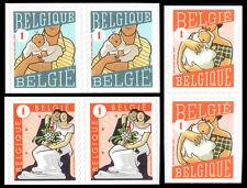 Belgium**GIRL & BOY BIRTH+MARRIAGE ANNOUNCEMENTS-3 BLOCKS@2vals-2007-MNH