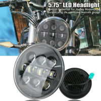 """5.75"""" LED Phare Feux Avant Hi/Lo Moto Projecteur DRL Headlight Pour Harley"""