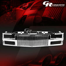 CHROME ABS FRONT BUMPER/HOOD VERTICAL GRILL COVER FOR 94-00 C10 C/K/TAHOE/BLAZER
