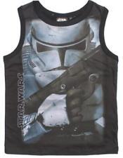 T-shirts, débardeurs et chemises noir sans manches pour garçon de 2 à 16 ans en 100% coton