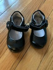 Stride Rite Baby/Toddler Girls Black Patent Leather Shoes, Size 4