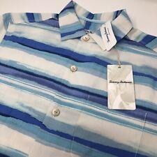 Tommy Bahama Men's Small S Island Zone Hazy Horizons Silk Blend Hawaiian Shirt
