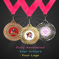 50mm 15 x Personalised Freestyle Dance Medals + Ribbon + Your Logo