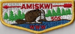 OA Amiskwi Lodge 505  Flap YEL Bdr. North Bay, MA [MX-7851]