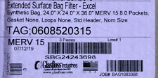 Glasfloss, Extended Surface Bag Filter, Excel Sbg24243698 Box Of 3