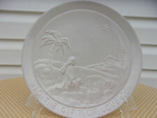 Frankoma Pottery 1976 Christmas Plate The Gift Of Love Joniece Frank Signed