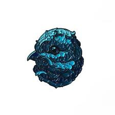 AVION ICE SOFT ENAMEL BLACK METAL PLATED PIN