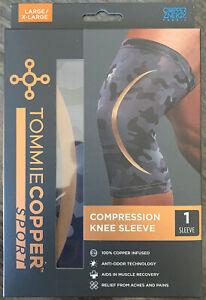 Tommie Copper Sport Knee Brace Compression Sleeve Joint Leg Pain L/XL Camo