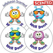 70 X Jellybean Scented Smelly Monster Reward Award Primary School Stickers 37MM