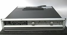 Crown MACRO TECH 2400 MC-2400 2-CH Power Amp 520W/CH @ 8-OHMS & PIP FX XLR