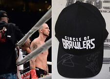 Joe Schilling & King Mo Signed Bellator KB Fight Worn Cornerman Used Hat BAS COA