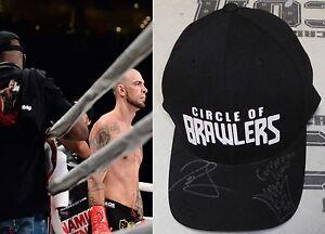 Joe Schilling & King Mo Signed Bellator KB Fight Worn Cornerman Used Hat BAS COA