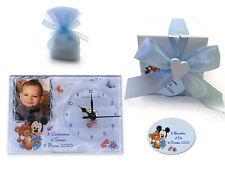 Bomboniere  battesimo compleanno OROLOGIO topolino personalizzato con foto