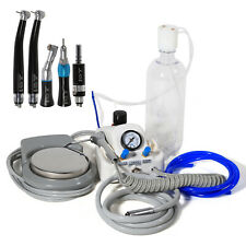 Dental Air Turbine 4 Hole No Air Compressor Low High Speed Handpiece Black P2