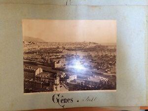 GENOVA. Italie.Photo der Hafen Genua Richtung , 1893.