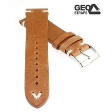 Geo-Straps Beluga Pro Uhrband Horween Rindleder hellbraun 20 mm Ersatzband