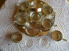 Tee Service Glas / Messingfarbig