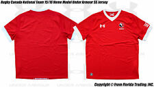Rugby Canada National Team 15/16 Home Model Under Armour SS Jersey(L)Red