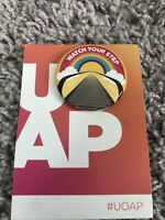 UNIVERSAL STUDIOS ORLANDO UOAP MARCH 2020 COLLECTOR'S BUTTON PIN WATCH YOUR STEP