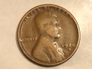 1924-D Denver Mint Copper Lincoln Wheat Cent # 14