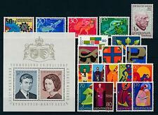 Liechtenstein 1967 Complete Year Set MNH