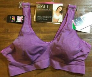 BALI COMFORT REVOLUTION WIRE FREE BRA Women's M/L/XL/2XL Grape Valor Heather NWT