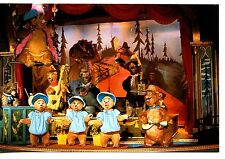 Cast Animated Country Bears Music Band-Disneyland Amusement Park-Modern Postcard