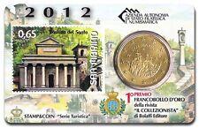 1 xSan Marino Minikit / Coincard  2012  - 0,5 Euro - Stamp 0,65 euro  - Tourism