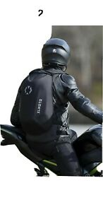 XLMoto Slipstream motorcycle Backpack  Bag Hard shell Water-resistant 24L Black