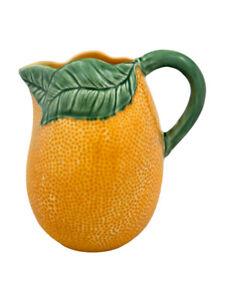 Orange - Pitcher - Bordallo Pinheiro - Made in Portugal