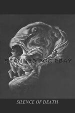 Death OPTICAL ILLUSION skull goth metamorphic art sketch drawing photo print