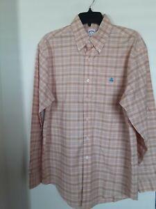 Brooks Brothers Original Polo Mens Shirt Regular Fit Non Iron Supima Cotton M